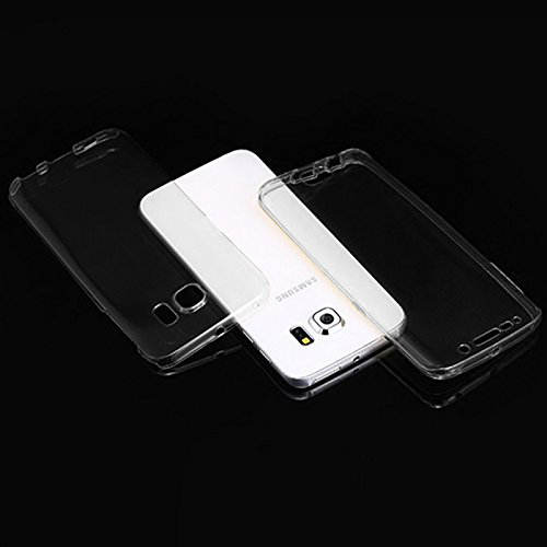 Minto Crystal TPU Full Body 360 ° Hülle iPhone 7 Plus Silikon Case Cover Etui Tasche - transparent Komplett Schutzhülle Transparent -s6