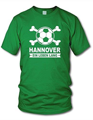 shirtloge - Hannover - EIN Leben Lang - Fan T-Shirt - Grün - Größe XXL