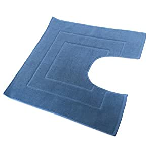 Tapis de bain contour WC et lavabo 60x60 cm FLAIR bleu Moyen 1500 g/m2