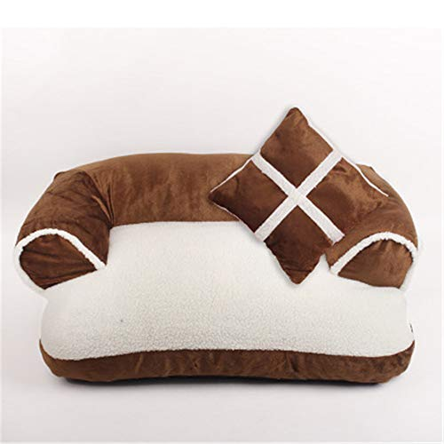 ZHAOXUAN Kennel Pet Products Herbst und Winter warme Haustier Nest Hund Pad braun 70 * 50cm