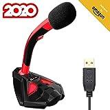KLIMTM Voice Microphone à Pied USB pour Ordinateur - Micro de Bureau...