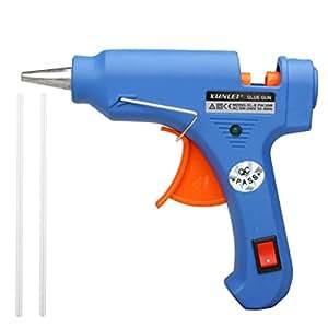 Japace® XL-E20K Professionnel Pistolet à colle haute température 20W avec 2 bâtons de colle 100V-240V glue gun interrupteur ON / OFF de contrôle