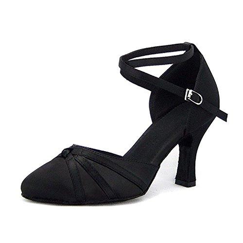 SUKUTU Mujer Cerrado Toe Dance Shoes Latin Salsa Tango Salón de Baile Zapatos para la Dama SU026 (9.84'/40EUR)
