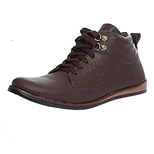 ROSSO ITALIANO Men's Tan Mesh Running Shoes ( rib499br105nm-$6 ) - 6