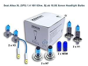 Seat Altea XL (5P5) 1.4 16V 63kw, Bj ab 10.06 Lampe frontale au xénon H3, H1, H7, W5W
