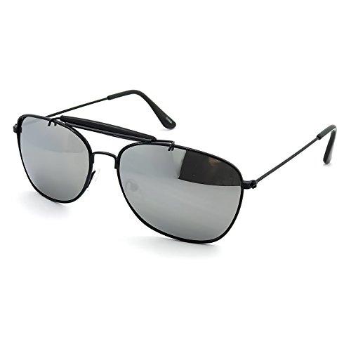 Kiss Sonnenbrille mod. AIRCRAFT GESPIEGELTEN - mann frau VINTAGE Stil Aviatore PILOT - SCHWARZ V2