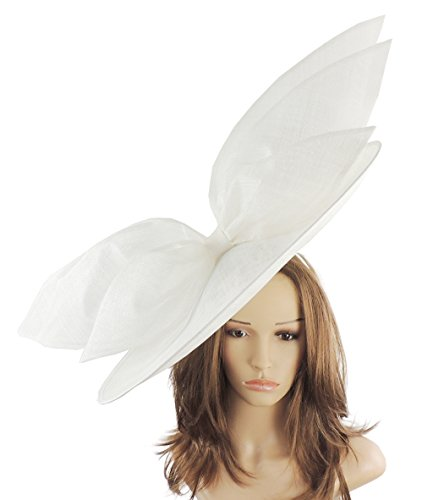 Hats By Cressida Marineblau Feder Fascinator Hut für Ascot Derby mit Haarband (Hüte Billig Santa)