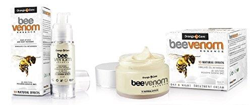 BIENENGIFT-SET: Tagescreme (50 ml) + Serum (30 ml) - BEE VENOM - VORTEILSPACKUNG! Natürliche Straffung, Hautlifting, Anti Aging, Antifalten! Mit Gelee Royal! Das Bienengift Serum