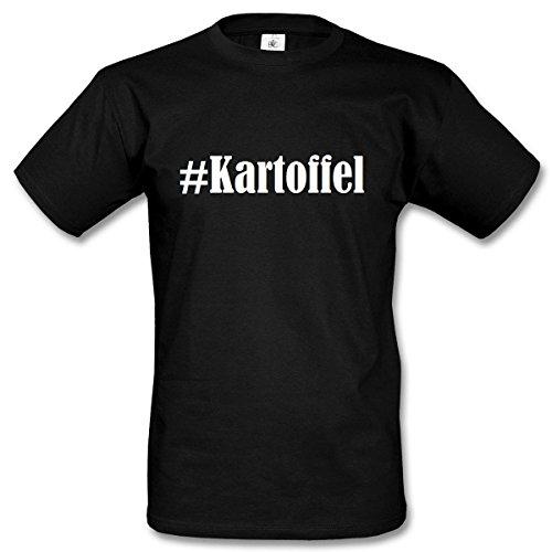 T-Shirt #Kartoffel Hashtag Raute für Damen Herren und Kinder ... in der Farbe Schwarz Schwarz
