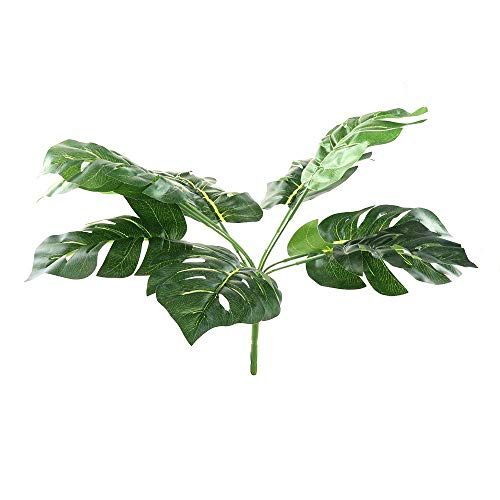 SISHUINIANHUA Falso Faux Artificial 9-Leaf Monstera