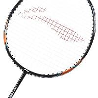 Li Ning Badminton Racket Power X Series Player Edition Badminton Racquet Premium Light Weight Carbon Graphite Shaft 80+ GMS with Full Carrying Bag Cover (Power X7 - Black/Orange)