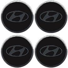Emblema de aleación para embellecedores de ruedas, diseño con el logotipo de Hyundai, 4 unidades