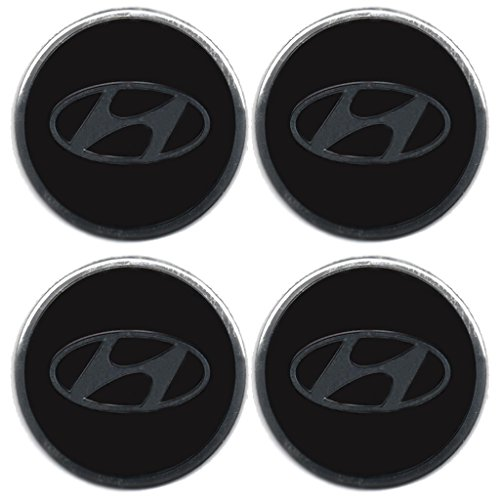 AufkleberSet mit HyundaiEmblem, für Felgendeckel, Radstern, Leichtmetallraddeckel, Radzierblenden, 4 Stück Picture