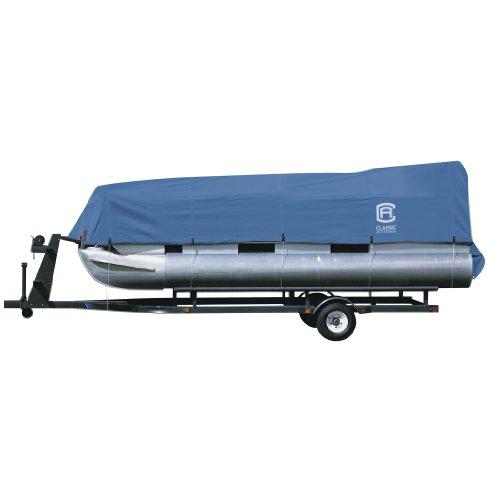 Classic Accessories Stellex All Seasons Pontoon Boat Cover, Blue, Fits 21' - 24' L x 102