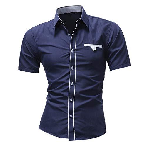 37c590181701e9 Luckycat Männer Hemd Art und Weise Normallack männliches zufälliges langes  Hülsen Hemd Mode 2018
