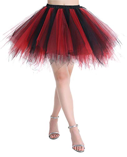 MuaDress MUALXQ Kurz Tutu Retro Petticoat 1950s Vintage -