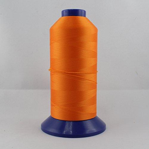 Bauschgarn - Overlockgarn - orange - Stärke: 60 - Nylon - 5000 m (Nylon-faden Overlock)