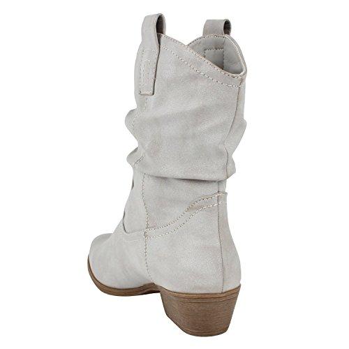 Japado - Stivali western Donna Grigio (grigio)