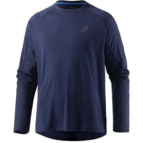 Ls-herren-casual Shirt (ASICS lite-Show LS T-Shirt Langarm, Herren M Blau (Indigo Blue))