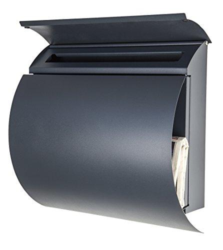 Wandbriefkasten / Briefkasten / Mailbox Modell 888 anthrazit-grau RAL7016 mit Zeitungsfach - 2