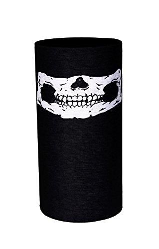 Halstuch ZaPro® Deutschland Qualitätsgeprüft | verschiedene Motive | Bandana | Fastnacht | Halloween | Motorrad | Maske | Totenkopf | Sturmmaske | Joker | Navy | Army | Skull (Maske Scream Gesicht)