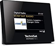 TechniSat 0000/3921 Digitradio 100 C DAB+ Radio Adapter med Bluetooth, Svart