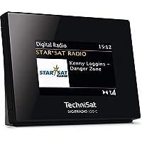 TechniSat Digitradio 100 C DAB Radio Adapter (DAB+ / UKW Empfangsteil zur Erweiterung von HiFi-Anlagen und AV-Receivern, Bluetooth, Wecker, Farbdisplay, Anschluss für externe Antenne) schwarz