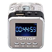 Mini Digital Portable Music MP3/4 Player TF USB Disk Speaker FM Radio Black