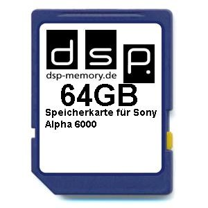 64GB Ultra Highspeed Speicherkarte für Sony Alpha 6000 Digitalkamera (Alpha Digital Flash)