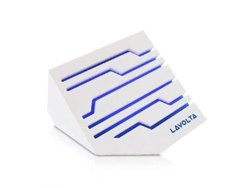 Lavolta SM-101W Aktiv Kompakt USB 6W Lautsprecher für Notebook / Computer PC / TV / Smartphones / Handy – Premium Stereoanlage mit Reinem Bass – 3.5 mm AUX-Eingang - Weiß