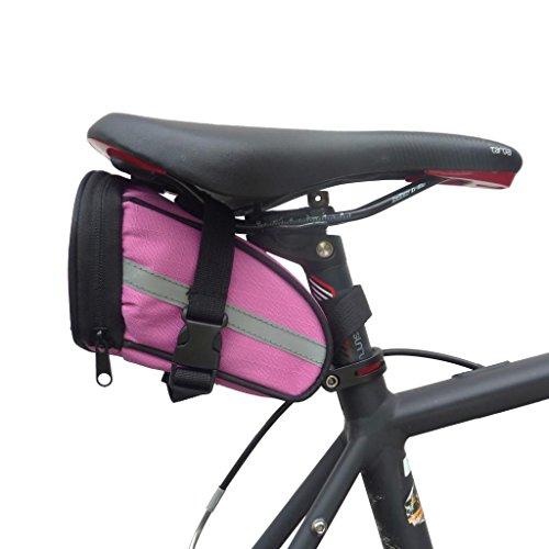 Kompakte BTR-Fahrradsatteltasche mit schnell zu öffnenden Schnallen - Wasserbeständig Rosa