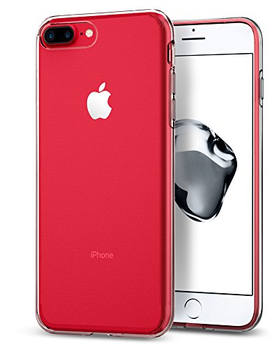 iPhone 7 Plus Hülle, Spigen® [Liquid Crystal] Ultra Dünn [Crystal Clear] Transparent Soft-Flex Handyhülle / Bumper-Style Premium-TPU Silikon / Perfekte Passform / Durchsichtige Schutzhülle für iPhone 7 Plus Case, iPhone 7 Plus Cover - Crystal Clear (043CS20479)