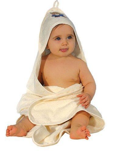 Baby Badetuch Handtuch Kapuzenhandtuch Frottee creme beige