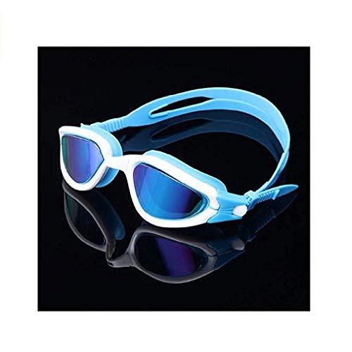 fyhtydsr Sommer-Schutzbrille-Erwachsene Schutzbrille-große Kasten-wasserdichte Schwimmen-Glas-Silikon-Mischfarben-justierbare Gläser