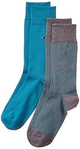 tommy-hilfiger-chaussettes-lot-de-2-homme-turquoise-aqua-fr-43-46-taille-fabricant-43-46
