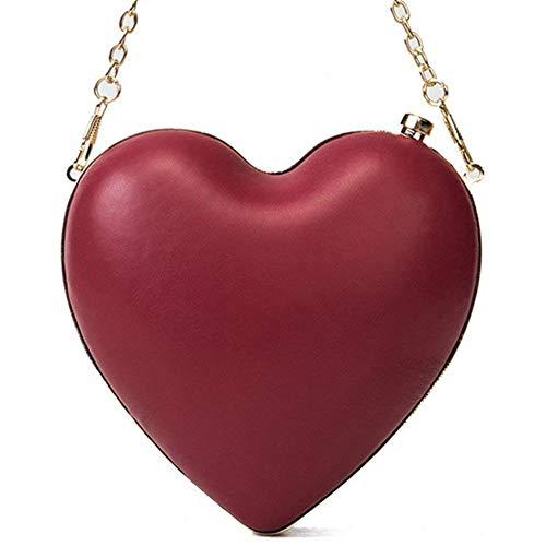 SODIAL Sac A Main pour la Femme Sac A Cadeau D'Amour Sac A Main de Coeur Rouge de la Fete de Soiree Diner Mini Chaine