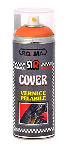 ROLMA COVER Vernice removibile ORANGE FLUO - ARANCIO FLUO - removable paint - bomboletta spray 400 ml. - spray can 400 ml.