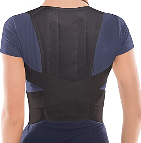 TOROS-GROUP Posture Corrector Brace – Back/Shoulder Support - Medium Black