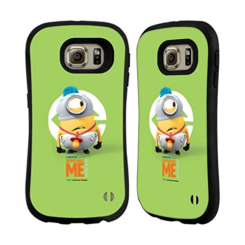 Head Case Designs Offizielle Despicable Me Stuart Baby Kostuem Minions Hybride Huelle kompatibel mit Samsung Galaxy S6