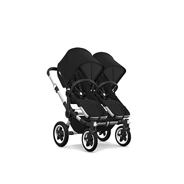 Bugaboo Donkey 2 Twin, 2 in 1 Double Pram and Double Pushchair for Twins, Black Bugaboo Perfect for two children of the same age Use as a double pushchair or convert it back into a single (mono) in a few simple clicks You only need one hand to push, steer and turn 3