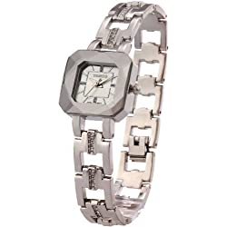 Time W80023L.02A – Women's Wristwatch, stainless steel strap white