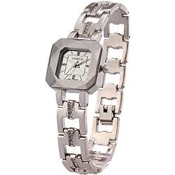 Time W80023L.02A–Women's Wristwatch, stainless steel strap white