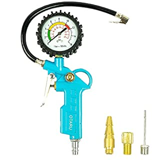 Druckluft Reifenfüller Reifendruck Prüfer Kompressor Manometer Luftschlauch Luftdruckprüfer Zubehör Messgerät Druckluftpistole Luftdruck Reifendruckprüfer Geeicht Luftdruckmesser Reifendruckmesser