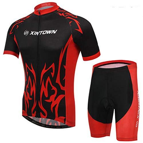 XiangYu Radtrikot, Herren Radsportbekleidung Sommer Kurzarm Atmungsaktiv Superlight Moisture Wicking + 3D Shorts R-S - Herren Rs Fahrrad Short