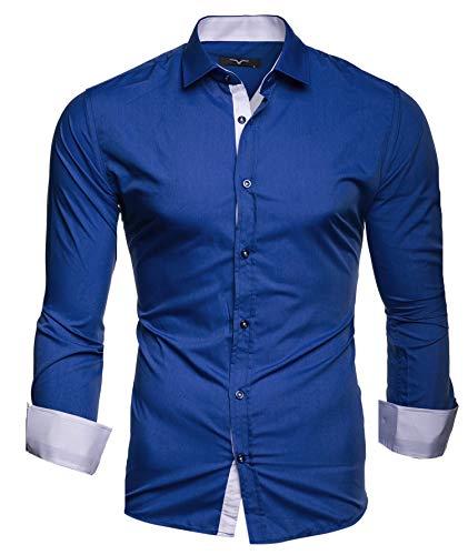 Kayhan Kayhan Herren Hemd, TwoFace Blau S