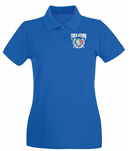 T-Shirtshock - Polo pour femme WC0084 ITALIA ITALY Bleu Royal