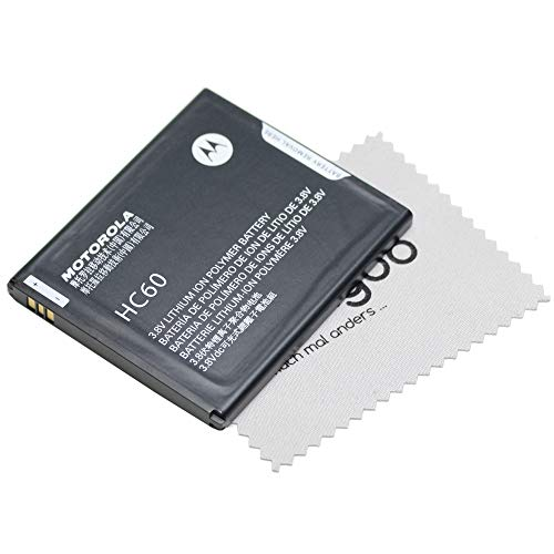 Batteria Originale per Motorola HC60 per Moto C Plus 3780 mAh + Panno di Pulizia per Display Mungoo