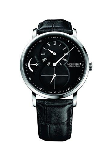 Louis Erard excelencia colección mecánica mano Winding negro Dial hombres reloj de 54230AA02. BDC29
