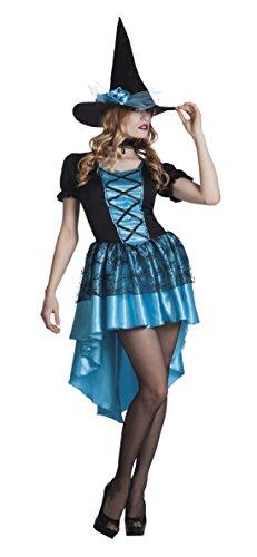 Karnevalskomplettkostüm bezaubernde Hexe, L/XL, Blau (Moderne Teufel Kostüme)