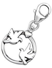 63be46ab072d CHARMS   925 Sterling Silber   Zwei Tauben   Passt zu fast allen Armbänder
